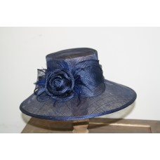 Hats blue  with flower en feathers