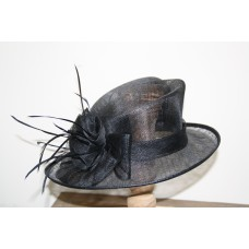 Hats black with flowerbow
