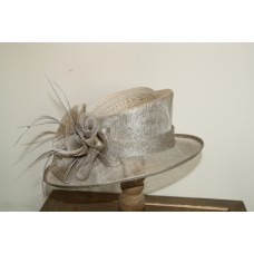 Hats gray with flowerbow