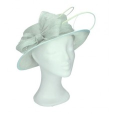 Green hat with bow