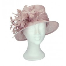 Pink hat with flowers