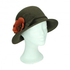 Cloche hat flower orange