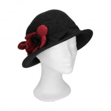 Cloche hat flower red