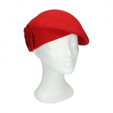 Beret red double flower